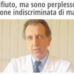 """Vaccini: """"Non li rifiuto, ma sono perplesso dalla vaccinazione indiscriminata di massa"""" dr Roberto Gava"""