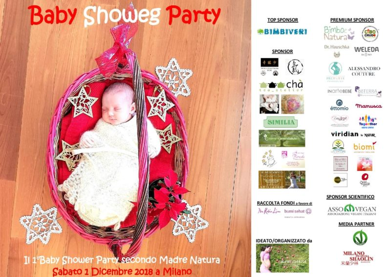 Il primo baby shower party vegano in Italia